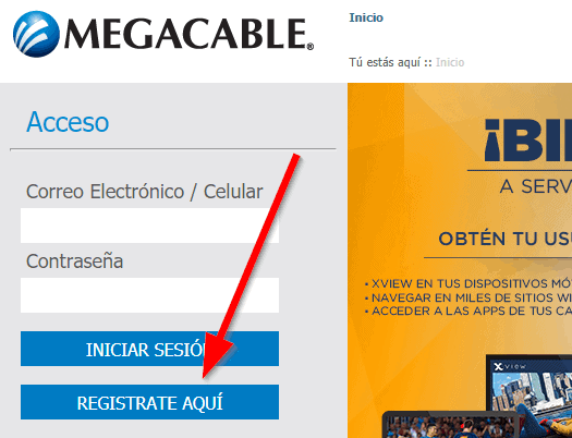 Servicios en línea megacable